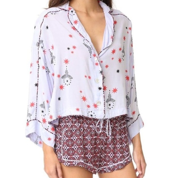 99e6c8d5f7b4b0 Free People Intimates & Sleepwear | Intimately By Printed Pajama Top ...